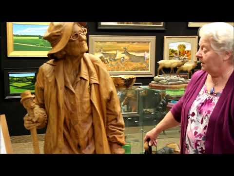 Life-size Wood Carving - Fred Cogelow
