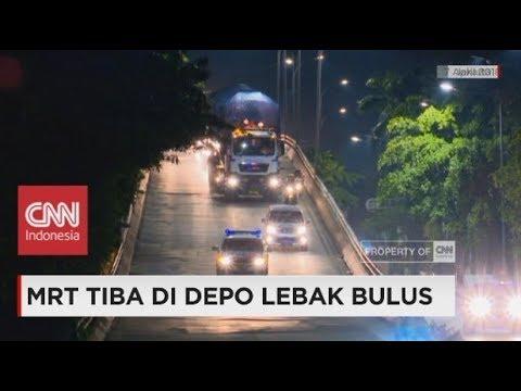 MRT Tiba di Depo Lebak Bulus