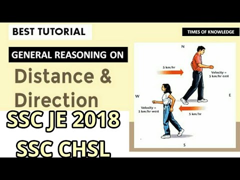 DISTANCE AND DIRECTION | general Reasoning Best Trick | ssc je 2017| ssc chsl | mppsc 2018