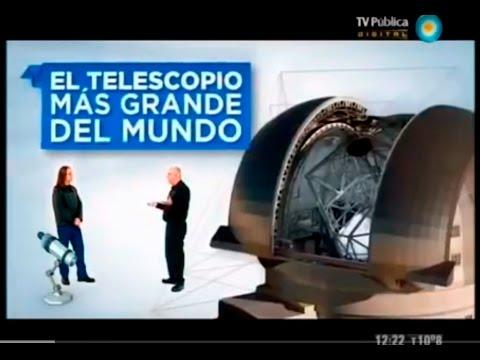 Telescopio más grande del mundo: E-ELT (Científicos Ind  Arg  25/8/12)