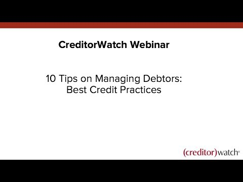 10 Tips on Managing Debtors