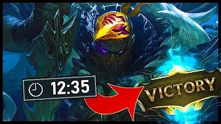 I won on Pyke jungle in 12 mins