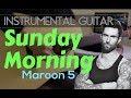 Maroon 5 - Sunday Morning instrumental guitar karaoke version cover with lyrics