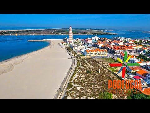 Costa Nova & Barra beach - Ílhavo - Aveiro - Aerial view - 4K Ultra HD