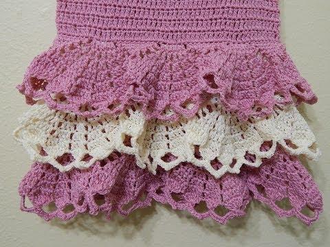 Vestido para niña Crochet parte 3 de 3 - YouTube