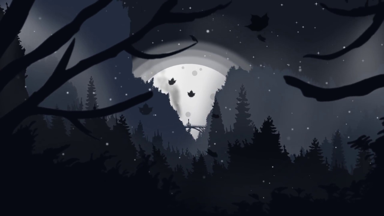 Download ◀ 2D intro | Seso's Winter Night Landscape intro (V2/2018) | By Bluez