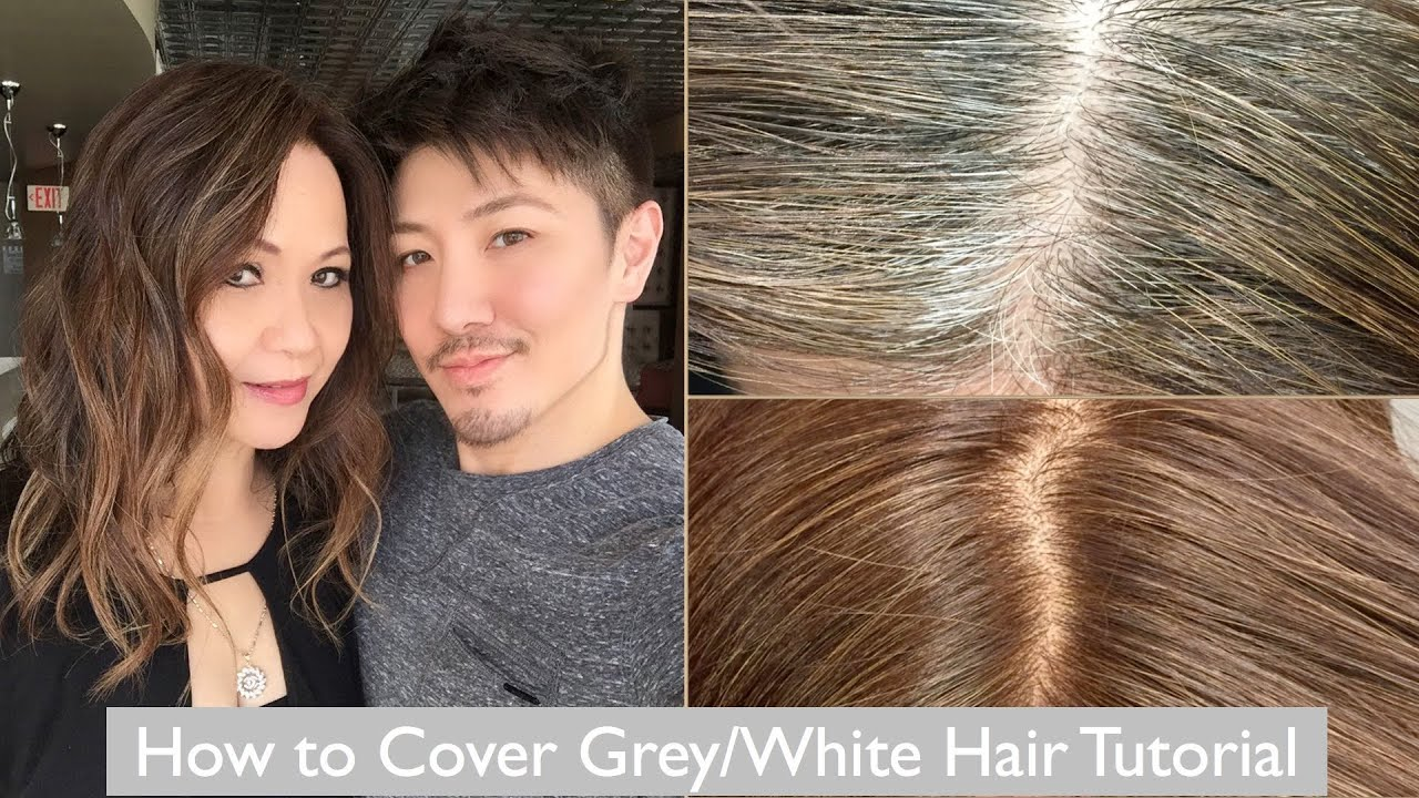How to Cover Grey/White Hair Tutorial - YouTube