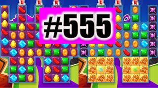 Candy Crush Soda Saga Level 555 NEW! Complete!