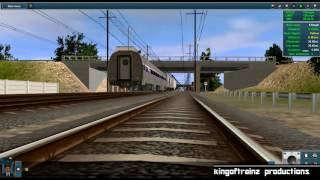 Trainz 12: Amtrak P42DC + Amfleet Set via Northeast Corridor (Wilmington -  Philadelphia) [Timelapse] by kingoftrainz