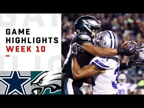 Cowboys vs Eagles Week 10 Highlights  NFL 2018