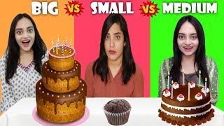 BIG vs MEDIUM vs SMALL Food Challenge | Life Shots