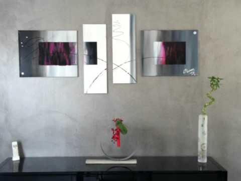Tableaux abstrait moderne deco d interieur youtube for Decoration interieur