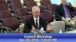 April 4th, 2018 - City Council Workshop: New City Manager Interviews