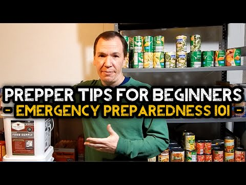 Prepper Tips For Beginners - Emergency Preparedness 101
