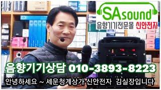 대영음향 DY-307 충전식 2채널 무선 블루투스 앰프…