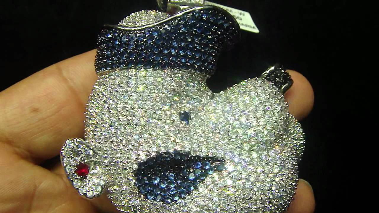 fcebf2ed97a06 Mr Chris Da Jeweler Custom Lab Diamond Popeye Pendant ( Video No : BP9087 )