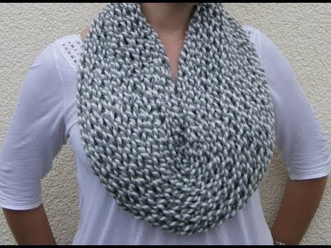 How To Knit A Cowl Neckwarmer Pattern 34 By Thepatternfamily Youtube