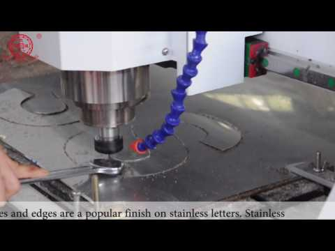 channel letter bending machine + laser welding + CNC router cutting machine to make signage