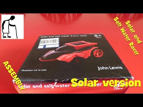 Solar and Salt Water Racer - Solar version LONG VIDEO