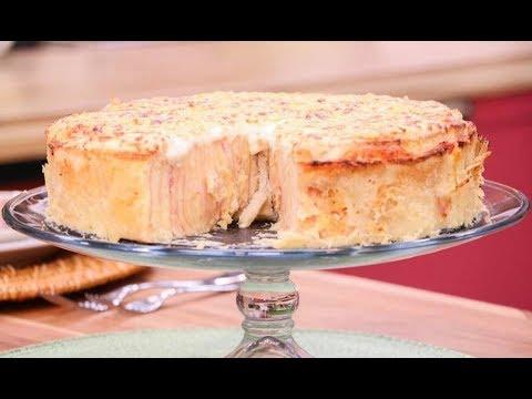 Aprenda a fazer torta caracol de presunto e queijo