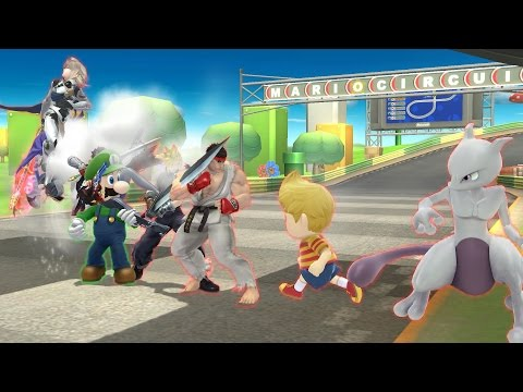 Smash 4 - Luigi wins against every level nine DLC CPU by doing absolutely nothing