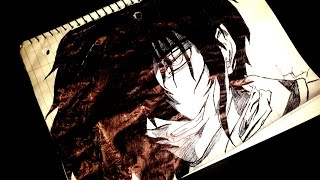 How to draw Alucard from hellsing