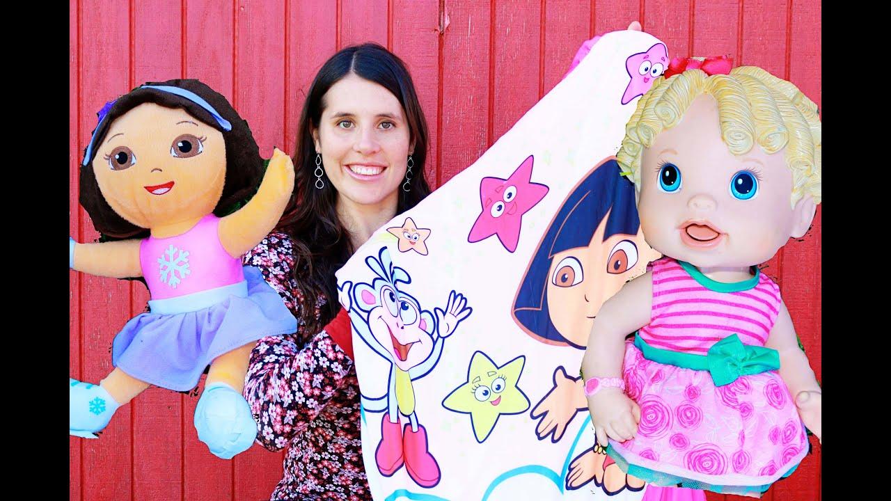 Sleeping Bag Full of Surprises Dora The Explorer Baby Alive Doll