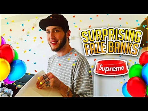 SURPRISING FAZE BANKS FOR HIS BIRTHDAY!! (My Roommate)