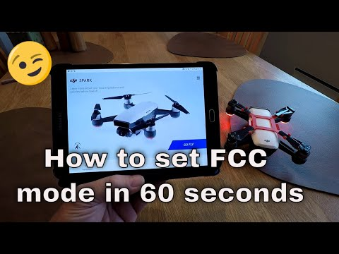 How to switch to FCC mode in 60 seconds on DJI Spark/Air/Mavic  #Smartphone #Android