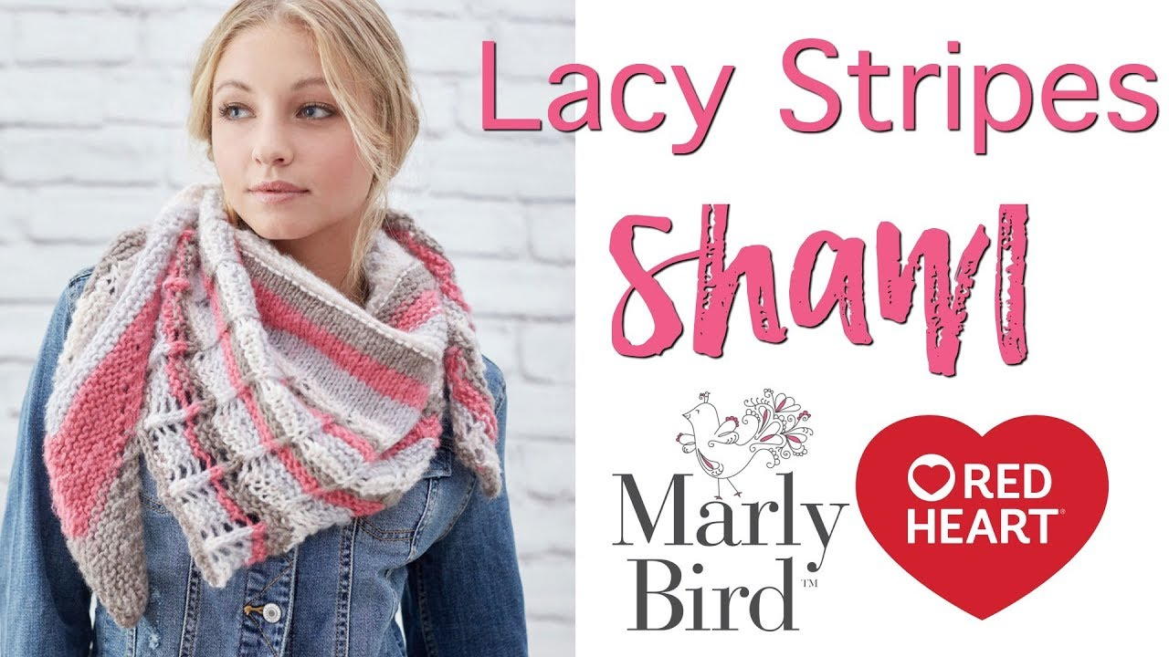How to Make Lacy Stripes Knit Shawl