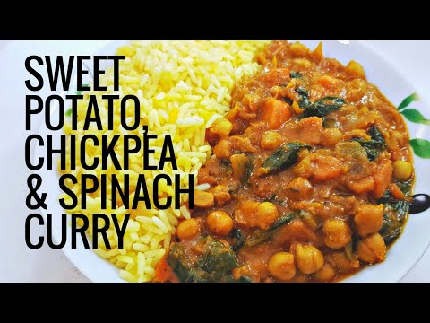 #MeatFreeMondays Sweet Potato, Chickpea and Spinach curry | VEGAN
