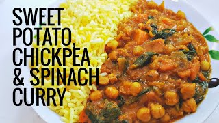 #MeatFreeMondays - Sweet Potato, Chickpea and Spinach curry | VEGAN