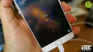 OPPO Vooc Flash Charge test - تجربة الشحن السريع من أوبو