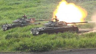 【ノーカット】平成29年度富士総合火力演習後段 島しょ部に対する攻撃への対応 Japan Self-Defense Forces at Fuji Firepower Exercise