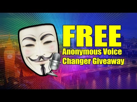 Anonymous Voice Changer Giveaway | Doovi