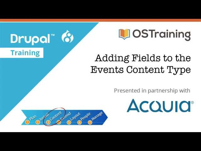 Drupal 8 Beginner, Lesson 23: Adding Fields to the Events Content Type