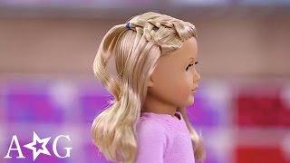 جميلة شلال جديلة التعليمي   دمية تسريحات الشعر   فتاة أمريكية