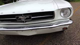 65 mustang coupe white 5 speed
