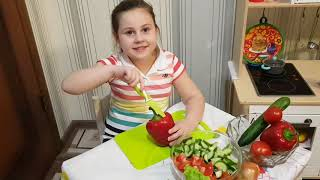 Как приготовить САЛАТ |  Как приготовить салат на 7 языках | How to cook salad in 7 languages