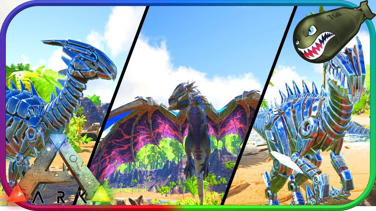 Ark: Survival Evolved | PreOrder Robo Skins Preview, Tek Wyvern Saddle,  Shield & Sword (Ark Updates)