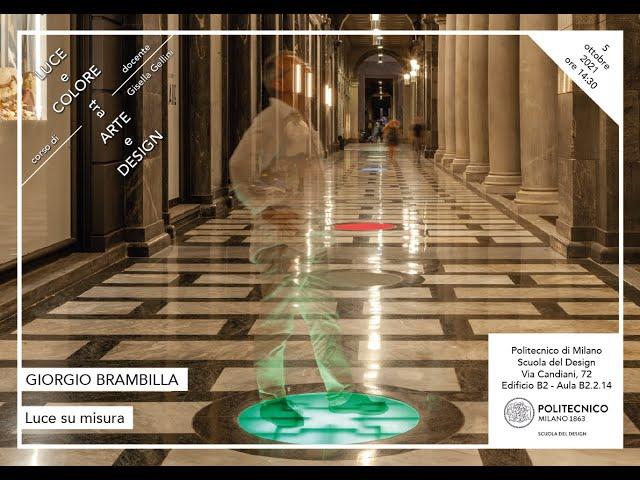 Luce e Colore tra Arte e Design | Giorgio Brambilla - Luce su misura