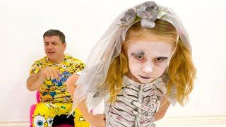 Nastya e pai e efeitos nocivos de assistir desenhos animados