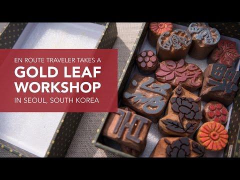 Gold Leaf Workshop At Kum Bak Yeon In Seoul