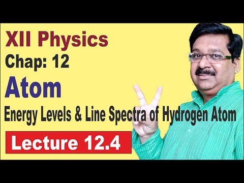 NCERT XII Physics Chap-12.4 Energy Levels & Line Spectra of Hydrogen Atom - Atoms
