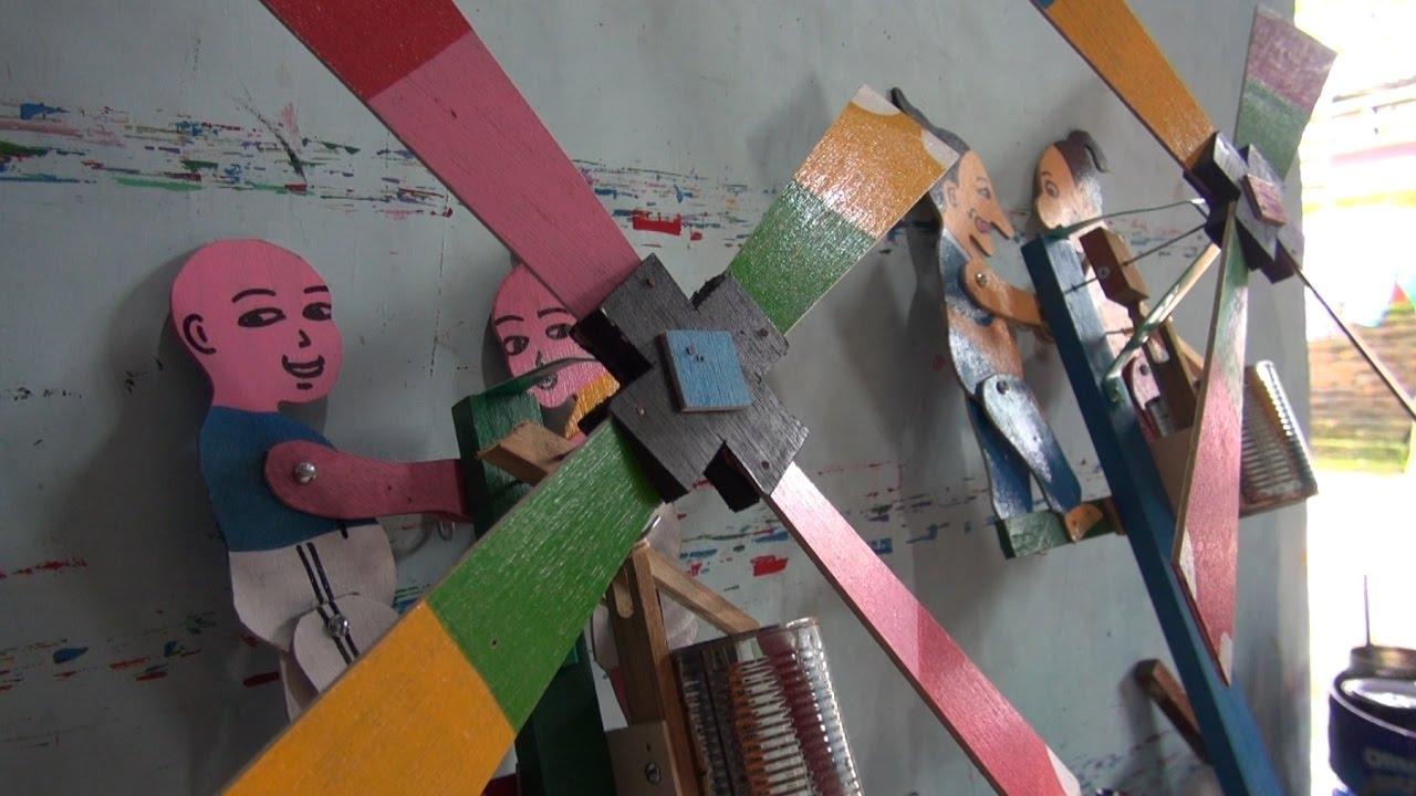 Tutorial Membuat Mainan Kincir Petruk & Gareng - YouTube