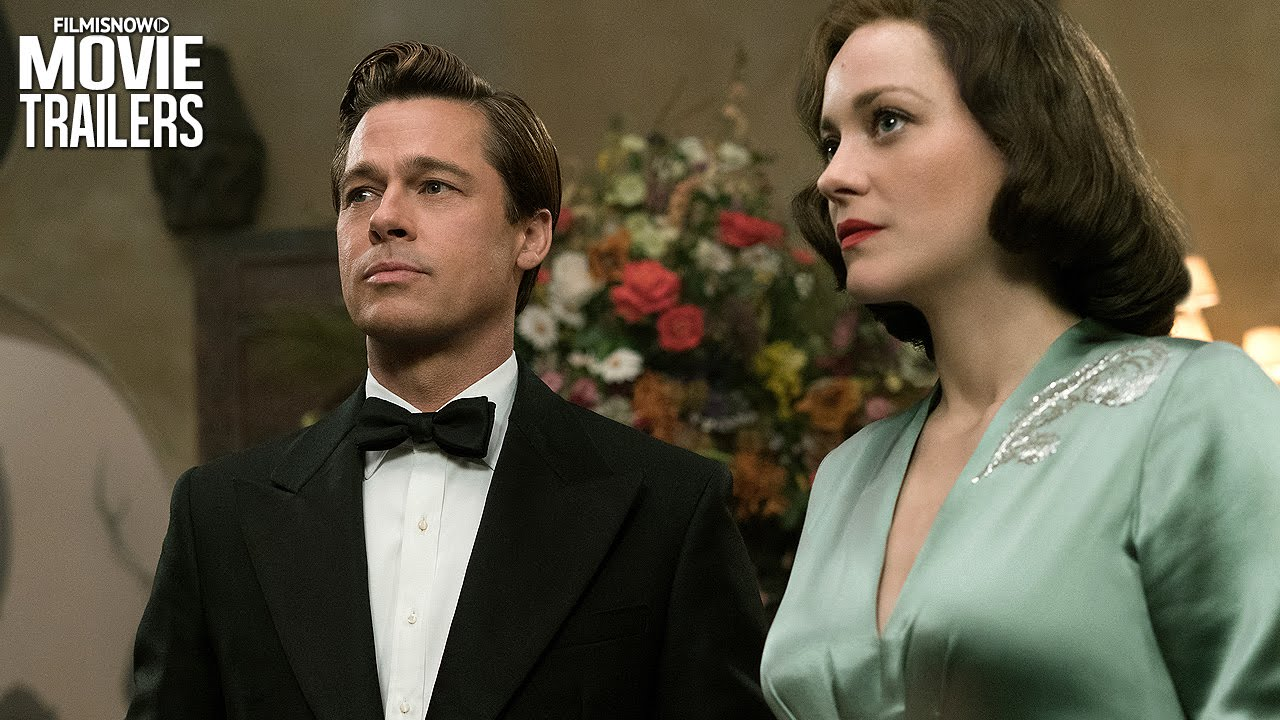 Brad Pitt Marion Cotillard Star In Allied Youtube