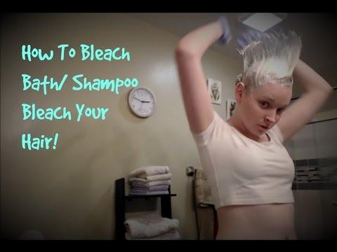 How To Bleach Bath Shampoo Bleach Hair Blue Youtube