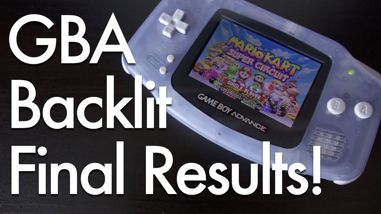 Gameboy Advance Display Beleuchtung Game Boy Advance Backlight Mod Tweak And Final Results