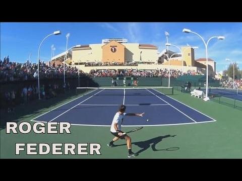 Roger Federer , Rafael Nadal -Indian Wells 2017 - Court Level View Practice