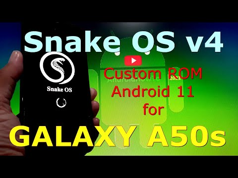 Snake OS v4 Custom ROM for Samsung Galaxy A50s Android 11 One UI 3.1
